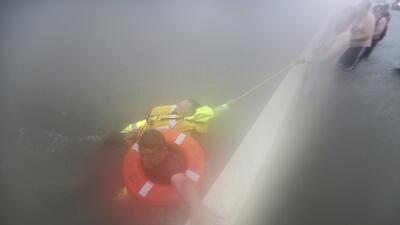 En fotos: Los espectaculares rescates de las víctimas de Harvey