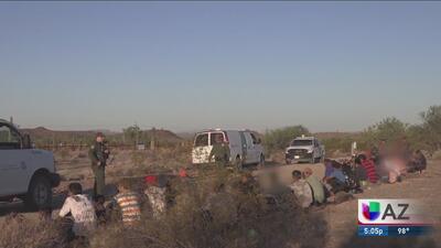 Continúa el aumento del número de arrestos en la frontera de Arizona