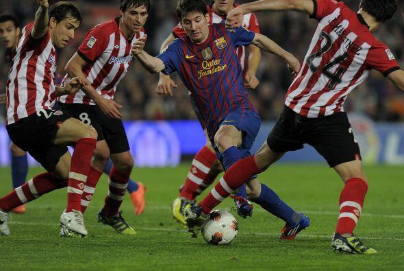 Así marcó el Bilbao a Messi, con una marca más que personal.
