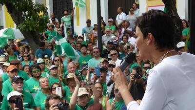 Maria de Lourdes Santiago festejó su cierre de campaña