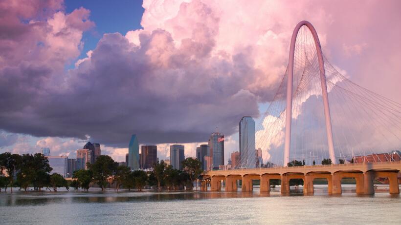 El puente Margaret Hunt Hill en Dallas