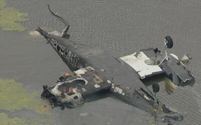Investigan accidente aéreo ocurrido en un estanque cercano a la ciudad d...