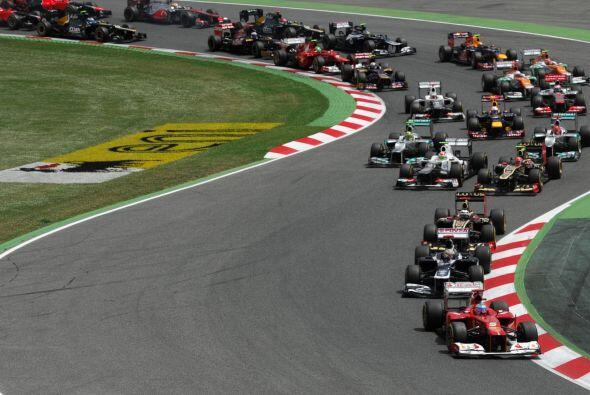 El GP de España resultó bastante emocionante de principio...