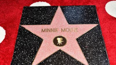 Minnie Mouse recieved a star on the Hollywood Walk of Fame
