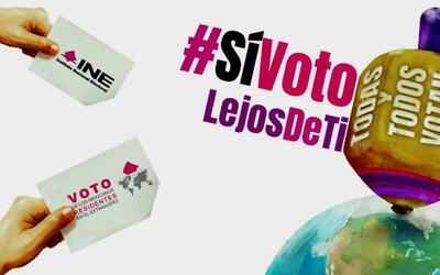 Campaña del INE para promocionar el voto de mexicanos en el extra...