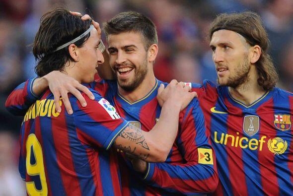 'Ibra' consiguió su gol y el marcador final fue de 3-1 a favor del Barce...