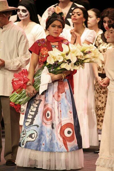 Itatí Cantoral como Frida Kahlo