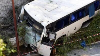 Los accidentes de autobuses son la causa más común de accidentes en las...