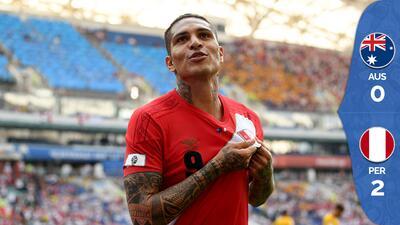 Perú cierra su participación en Rusia con una digna victoria de 2-0 sobre Australia