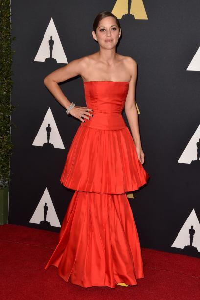 Marion Cotillard se robó las miradas por su vestido.