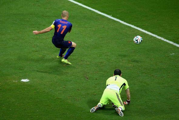 Robben jugó los siete partidos de la 'Oranje' acumulando 690 minutos don...