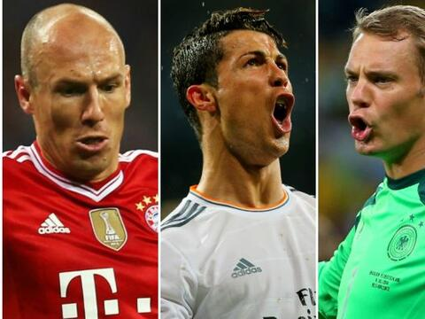 El delantero portugués del Real Madrid, Cristiano Ronaldo, y los...