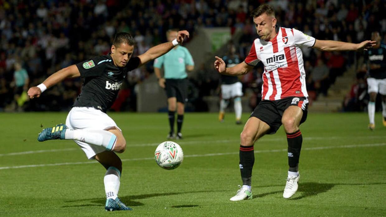 'Chicharito' disputó 26 minutos en el triunfo del West Ham,