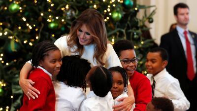 En fotos: La primera decoración navideña de Melania Trump en la Casa Blanca
