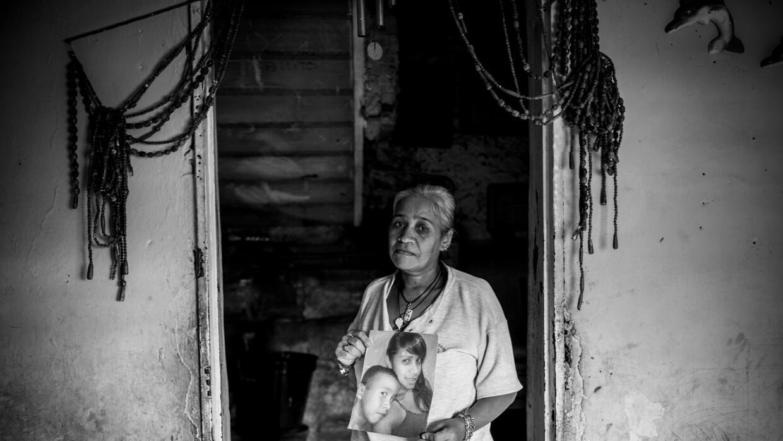 Yanet Flores. Su hija, Carolina Rojas, fue asesinada en un fuego cruzado...