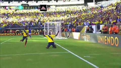 Goooolll!! Jaime Javier Ayoví Corozo mete el balón y marca para Ecuador