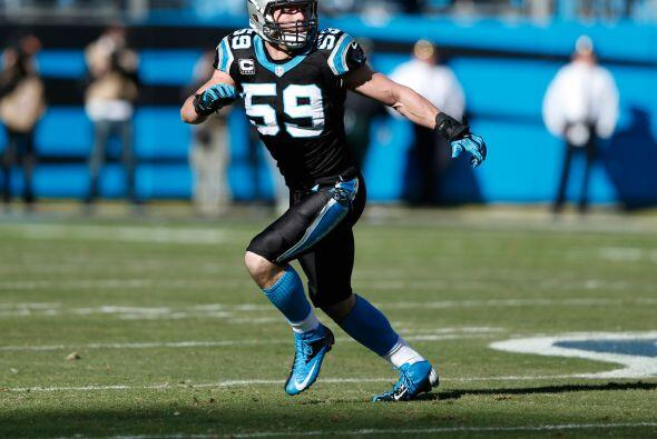 Apoyador interno: Luke Kuechly, Carolina Panthers.