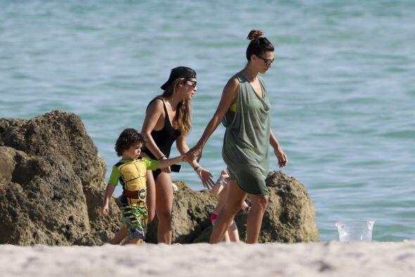 Pasaron de un rato de complicidad y alegria bajo el sol de Miami.