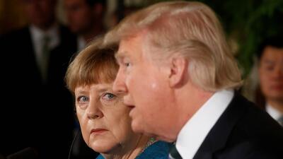Rueda de prensa de Angela Merkel y Donald Trump