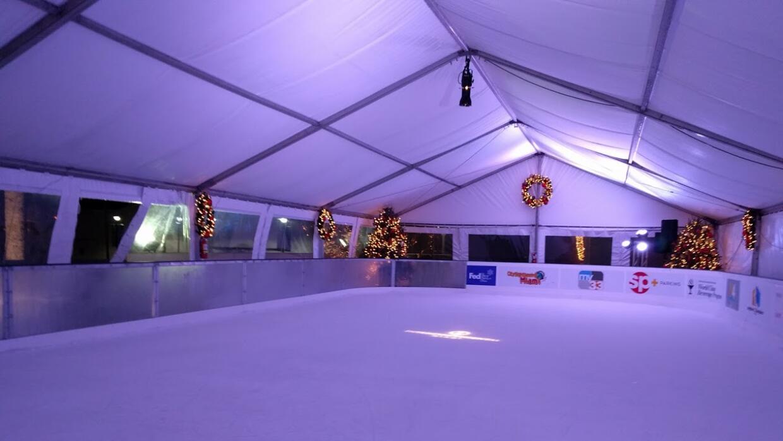 Pista patinaje sobre hielo en Miami
