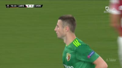 El Vorskla Poltava consiguió recortar el marcador a través de Volodimir Chesnakov