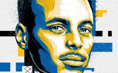 Conferencia del  Oeste: 1- Stephen Curry (2,379,494 votos de los fans)