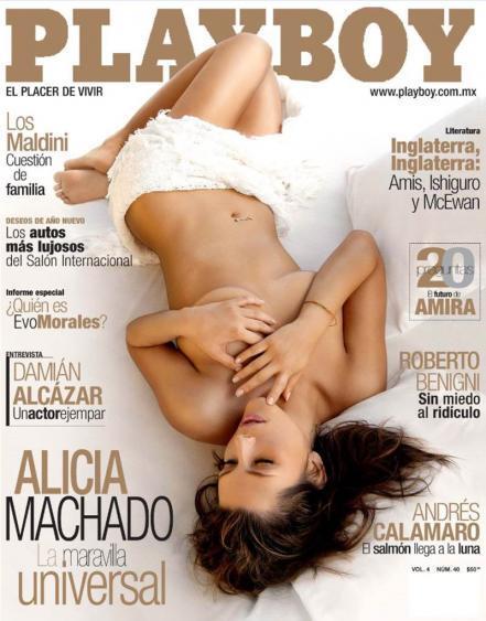 Alicia Machado posó para el 2007 para la revista Playboy y no dejó nada...