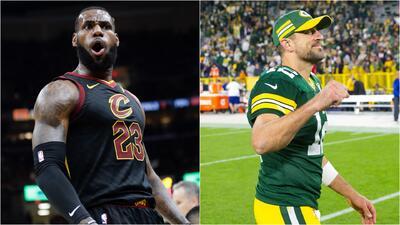 """LeBron James se rinde ante Aaron Rodgers: """"es increíblemente bueno"""""""