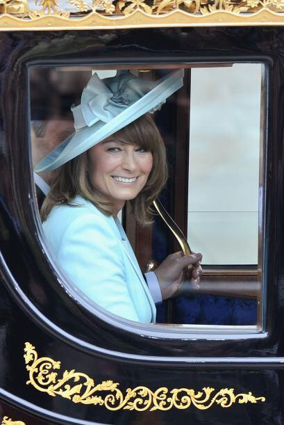 Felicidad total en la cara de Carole, la madre de Catherine Middleton.