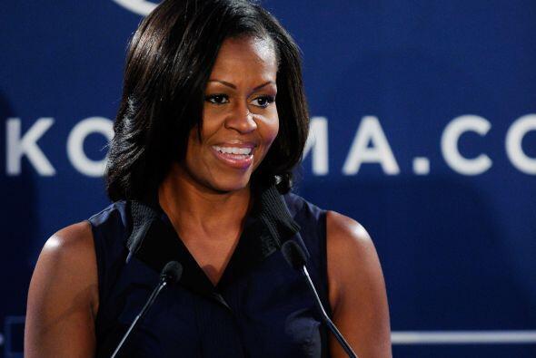 7. MICHELLE OBAMA. La primera dama afroamericana de Estados Unidos tiene...