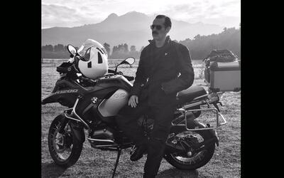 Jorge Poza en moto