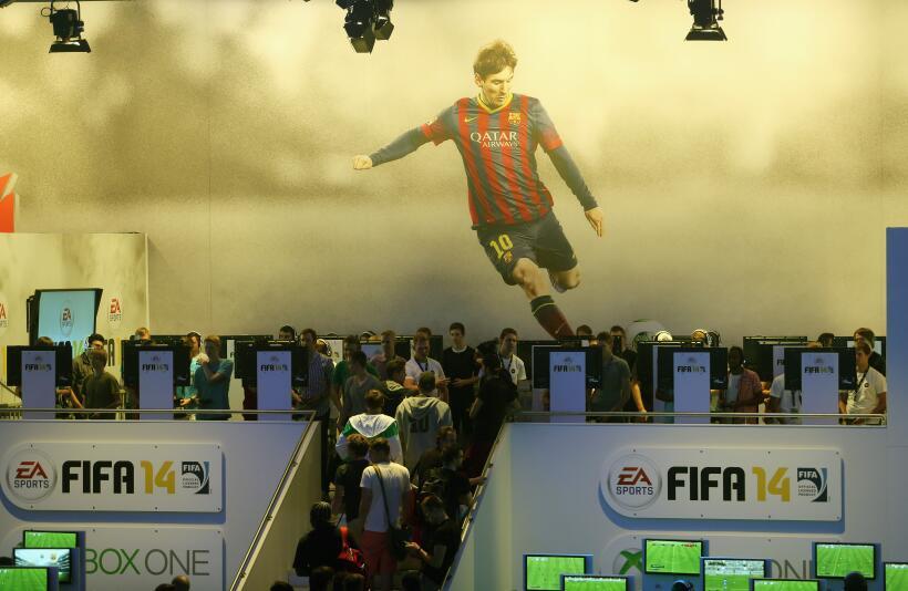 Messi en el videojuego FIFA 2014