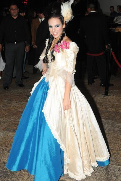 Apareció vestida como toda una princesa.