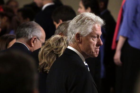 Bill Clinton estuvo entre los presentes.