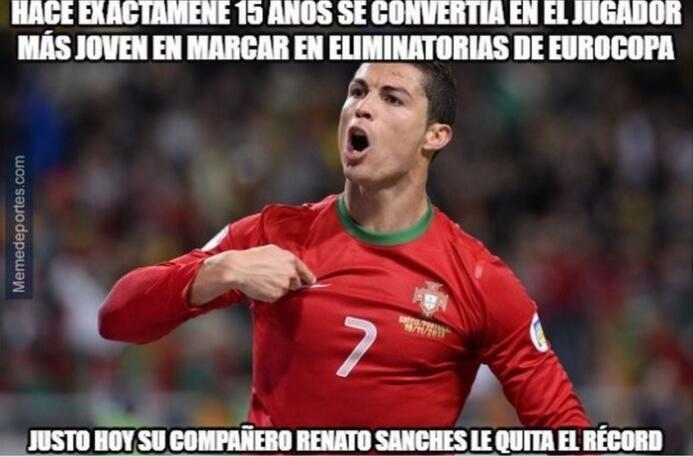 Portugal y Cristiano están semifnales de la Euro y los memes no se hacen...