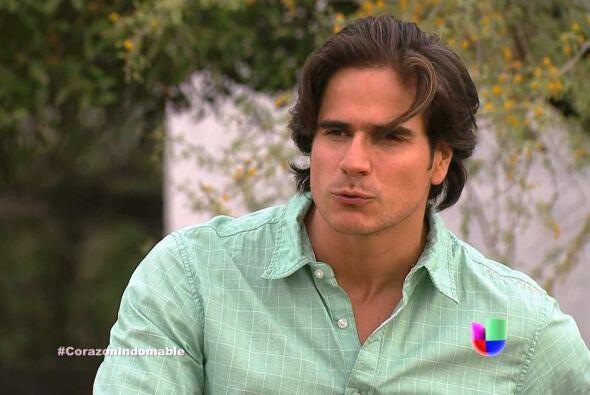 """Daniel Arenas es """"Octavio"""" en """"Corazón Indomable""""."""