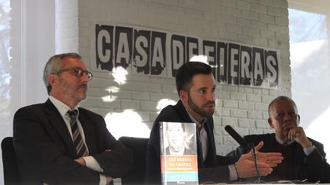 David Placer (al centro), Juan García (izq.) y Juan Carlos Zapata...