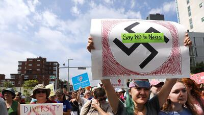 In photos: fears of white supremacy in Boston draw thousands to the streets