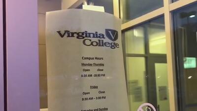 Estudiantes de Virginia College enfrentan la incertidumbre por el cierre de su escuela
