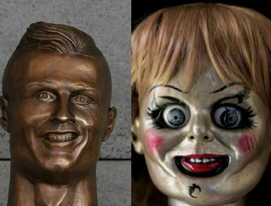 Los memes se burlan de Cristiano Ronaldo y su deforme escultura C8GBfQIX...