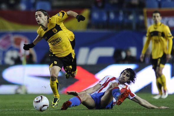 Los griegos estaban dispuestos a irse del estadio Vicente Calderón sacan...
