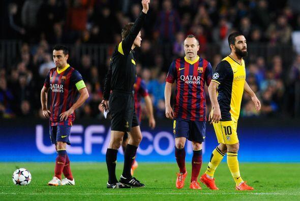 Pero lo que sí se vieron fueron tarjetas amarillas. Atlético acabaría co...