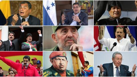 Latin America presidents collage