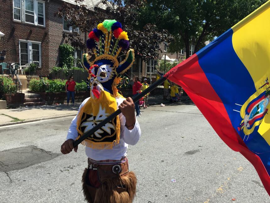 La bandera de Ecuador ondeó en Queens