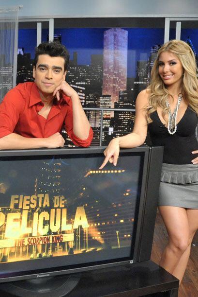 Desde hace más de un año, Eli es presentadora de Fiesta de Película.