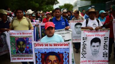 Los padres de los 43 de Ayotzinapa