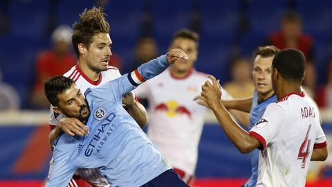 Los Red Bulls eliminaron a New York City en la U.S. Open Cup.