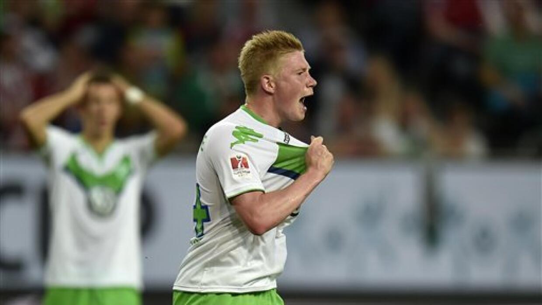 Kevin De Bruyne fue el héroe del triunfo del Wolfsburgo.