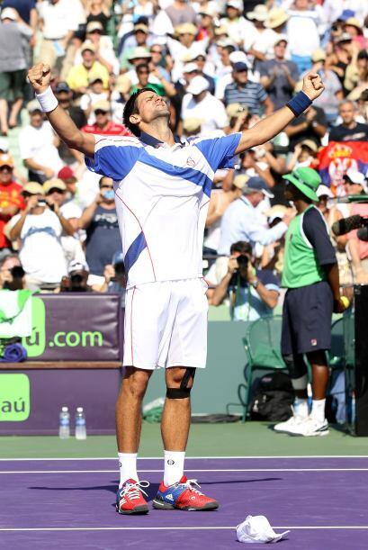 Djokovic logró por segunda vez el título en el Crandon Park de Key Bisca...
