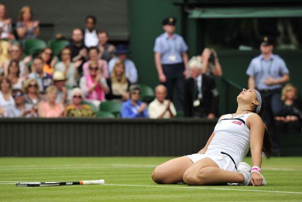 La francesa Marion Bartoli logró la hazaña de colarse a la...